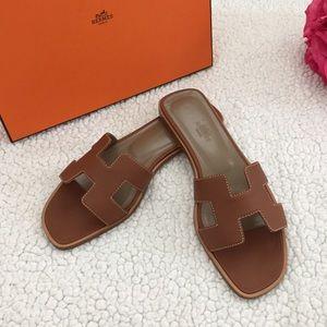 🌹 Hermes Oran Sandals Size 38.5